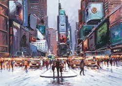 Times Square at Twilight by Henderson Cisz - Hand Finished Limited Edition on Canvas sized 22x16 inches. Available from Whitewall Galleries
